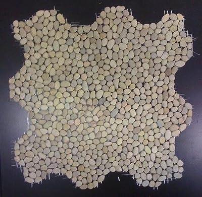 1 qm Mini Kiesel Mosaik Fliesen ivory (beige) von Gastromia bei TapetenShop