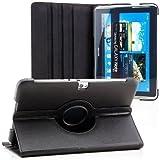 Saxonia Samsung Galaxy Note 10.1 (GT-N8000) Hülle Case Tablet Tasche Schutzhülle (360°) Cover Premium Qualität Schwarz