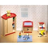Goki 51905 - Mobili per casa delle bambole, Cameretta, 12 pezzi
