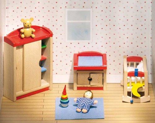 Goki 51905 Puppenhaus-Kinderzimmer 12-teilig