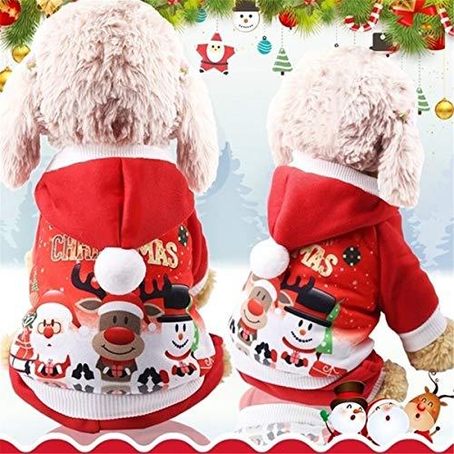 MINI CUTE Weihnachten Hund Kleidung Mantel Puppy Hoodie Weiche Baumwolle T-Shirt Warme Hoodies Mantel Kleidung für Kleinen Hund
