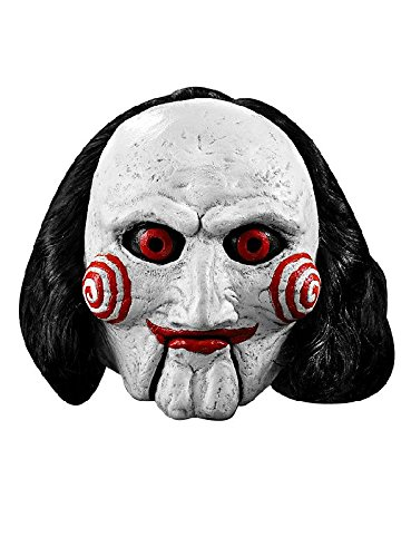 Saw Latex Maske Billy die Jigsaw Puppe zum Halloween Kostüm (Saw Puppe Kostüme)