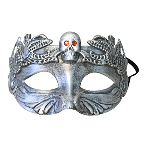 chaedel Skeleton Maske Antique Fangs Schaedel Maske Halloween Cosplay Party (Silber) ()