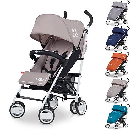 Buggy Sport Kinderwagen EZZO Mocca mit Liegefunktion zusammenklappbar - Baby ab 6. Monate