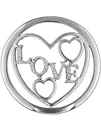 Love MY iMenso colour insignia de plata con circonitas 33 mm 33-1186