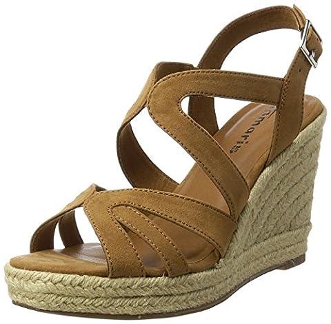 Tamaris 28342, Women's Wedge Heels Sandals, Brown (Nut 440), 6 UK (39 EU)
