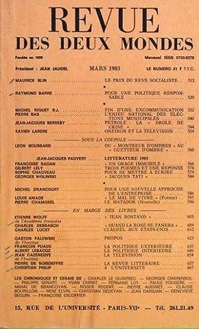 Un Orage Immobile - REVUE DES DEUX MONDES du 01-03-1983 LE
