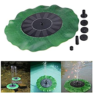 Rcool Floating Bird Bath Solar Powered Fountain Garden Water Panel Pump Kit Pool Pond Solar Sprinkler Fountain