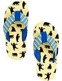 Hatley Lbh Kids Flip Flops-Boy Bears On Natural, Chaussures de Plage et Piscine Gar&CcedilOns