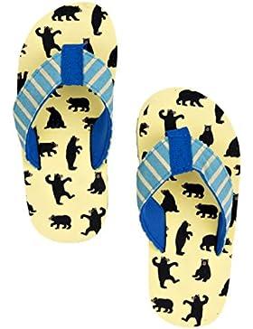 Hatley Jungen Lbh Kids Flip Flops-Boy Bears On Natural Dusch-& Badeschuhe