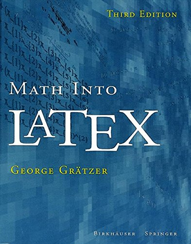 Math into LaTeX par George Grätzer