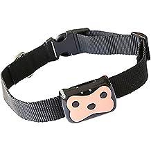 Animal doméstico perro portátil Mini Cat Collar GPS + LBS localizador contra la pérdida diaria vida impermeable en tiempo real de seguimiento Tracker control remoto con el Collar de hebilla ajustable