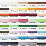 Jajasio Baumwoll Schrägband 25mm breit in 40 Farben, Einfassband Baumwolle Nahtband / Farbe: 01 - weiss