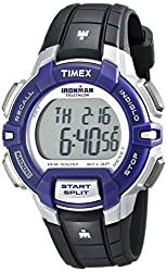 Timex Womens T5K8129J Ironman Rugged 30 Digital Display Quartz Black Watch, One Size/Black/Silver/Purple