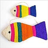 NIJY Pesce Sassi A Forma di Pesce Gatto Gratta E Vinci Simulazione Pesce Menta Pesce Gatto Artiglio Bordo Simpatico Cartone Animato Sisal Gatto Giocattolo Pesce Tromba