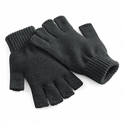 Beechfield - Fingerless gloves - Charcoal - LXL - LXL EU / UK