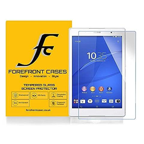 Forefront Cases® [HD CLARTÉ] Film de protection d'écran écran en verre trempé Glass Screen Protector pour Sony Xperia Z3 8-inch Tablet Compact SGP621 [ULTRA MINCE 0,3mm SEULEMENT]