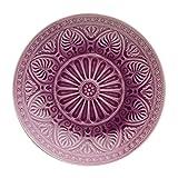 BUTLERS SUMATRA Teller - Schöner Keramik- Teller in Lila mit Muster Ø 31 cm Speiseteller Sumatra Teller in schönen Farben