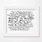 `Noir Paranoiac` Art Print - LINKIN PARK - Minutes To Midnight - Signed & Numbered Limited Edition Typography Unframed 2