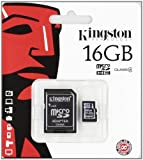 Keple 2-in-1 | ALLVIEW C6 Quad 4G | 16GB Mobile Phone Memory Card Bundle | Micro SD SDHC Memory Card & SD Adapter