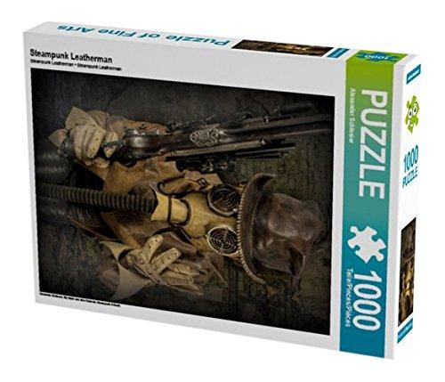 Steampunk Leatherman 1000 Teile Puzzle hoch (CALVENDO Kunst)
