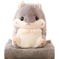 YunNasi Baby Blanket Cute Plush Stuffed Hamster Pillow 19.7