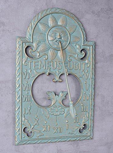 Sonnenuhr Gusseisen Wanduhr Nostalgie Garten Wandtafel Vintage Palazzo Exklusiv