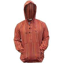 Shopoholic FASHION Multicolor dharke Rayas Abuelo Sudadera Con Capucha Camisa, ligero