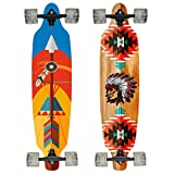 Hansson.Sports Top Longboard Komplett Skateboard Long Board 99cm (39 inch). 2 Motive zur Wahl (Motiv:Pfeil)