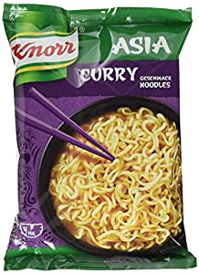 Knorr Noodle Express Asia Curry Geschmack Instant Nudeln 1 Portion, 11er-Pack