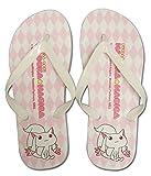 Madoka Magica Kyubey Girls Flip Flop Sandals