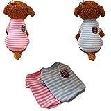 Chihuahua Pullover Hochwertige Hundebekleidung Winterpulli für Kleine Hunde und Katze Puppy Flanell Kleidung(Rosa, XS)