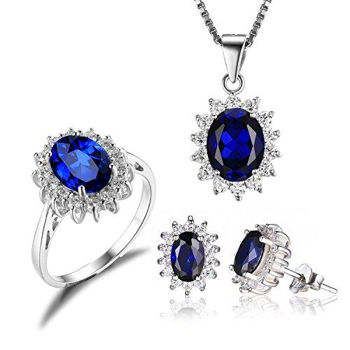 JewelryPalace Principessa Diana Bijoux Collana con Ciondolo e Orecchini da donna