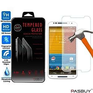 PASBUY Moto X2 Premium Real Tempered Glass Screen Protector for Motorola Moto X2