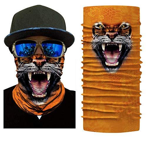 KKXXJH 3D Seamless Animal Headband Cute Magic Scarf Neck Warmer Máscara Facial Shield Diadema Headwear Bandana Hombres Bicicleta