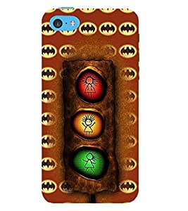 Fuson 3D Designer Back Case Cover For APPLE iPHONE 5C