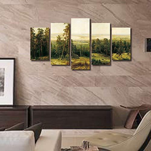 Zegeey 5 Stücke Moderne Leinwanddruck Malerei Natur Bild Wandkunstausgangsdekor Kein Rahmen