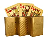 Pooja Creation Vacation Special Golden Playing Cards Set of 3 Pieces