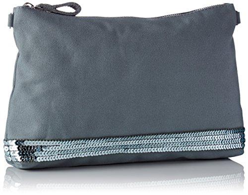 Vanessa Bruno Damen Pochette Épaule Coton Et Paillettes Schultertasche, 4,5x18x27 centimeters Grau (Nuage)