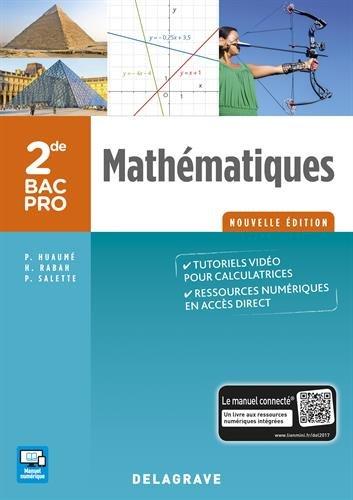 Mathématiques 2de Bac Pro - Groupements A, B, C - Pochette élève