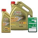 1 L + 5 L = 6 Liter Castrol EDGE Titanium FST™ 5W-40 Motor-Öl inkl. Ölwechsel-Anhänger