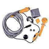 Ducomi® showerby–Ducha portatil de Acampada y Outdoor con tubo flexible de 2m–Funcionamiento eléctrico con encendedor a 12V