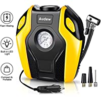 Audew Car Tyre Inflator, Car Tyre Pump Air Compressor, 12V DC 120W 150PSI With LED Light LCD Display, Fit For Cars/Trucks/Bicycle/Sedan/SUV/Moto/Swimming Rings