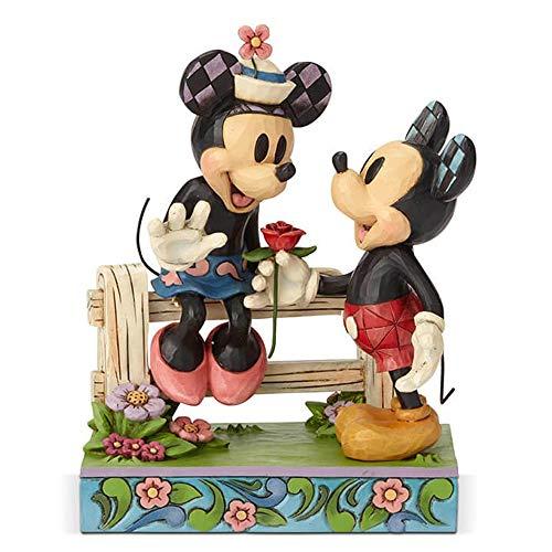Disney El Romance Florece-Mickey & Minnie Figurina, Resina, 9.00x14.00