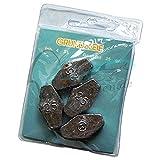 Hexagon Lead Grundbleie 15-60 g sechskant Angelblei Angel Grund Blei Angelbleie Laufblei (25 g - 4...