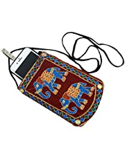 Kuber Industries Embroided Velvet Mobile Cover with Sari Hook