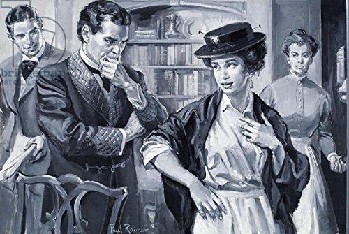"""Alu-Dibond-Bild 50 x 30 cm: """"Eliza Doolittle, from George Bernard Shaws Pygmalion (gouache on paper)"""", Bild auf Alu-Dibond"""