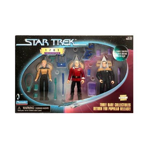 Star Trek Limited 1701 Collector Set mit Lt. Natasha Yar, Captain Jean-Luc Picard und Lt. Reginald Barclay von Playmates