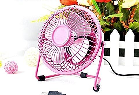 Colourfulworld USB-Ventilator Schmiedeeisen Metall Aluminium großer Fan Ye Fan (6inch, pink)
