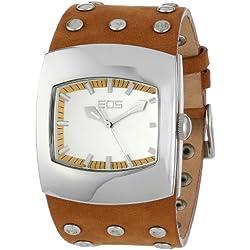 EOS New York Unisex 47LTAN Helix Tan Leather Strap Armbanduhr